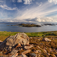 Buy canvas prints of Summer Isles from Hill of the Fairies Coigach Scot by Barbara Jones