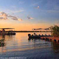 Buy canvas prints of Chobe River Sunset Cruise Botswana Africa by Barbara Jones