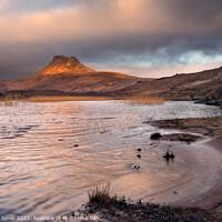 Buy canvas prints of Stac Pollaidh and  Loch Lurgainn Sunrise  Scotland by Barbara Jones