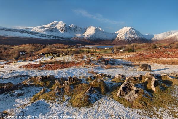 Torrin and Blaven in Winter Isle of Skye Scotland Canvas Print by Barbara Jones