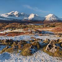 Buy canvas prints of Torrin and Blaven in Winter Isle of Skye Scotland by Barbara Jones
