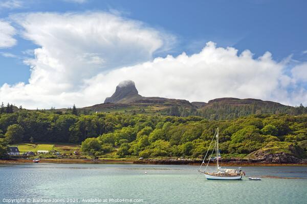 Summer Skies Isle of Eigg Scotland Canvas Print by Barbara Jones