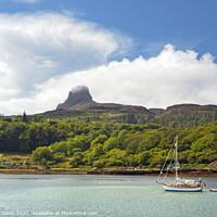 Buy canvas prints of Summer Skies Isle of Eigg Scotland by Barbara Jones