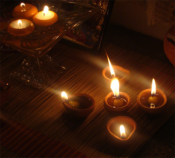 Candle Light  Canvas print by Ankit Mahindroo