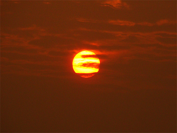 Another Beautiful Sunrise - A Close Up Canvas print by Ankit Mahindroo