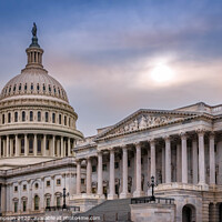 Buy canvas prints of Dusk at The Capitol by Viv Thompson
