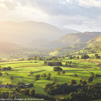 Buy canvas prints of Valley Glow by Si Betteridge