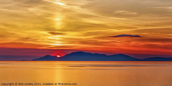 Sunset Isle of Harris Framed Print by Rick Lindley