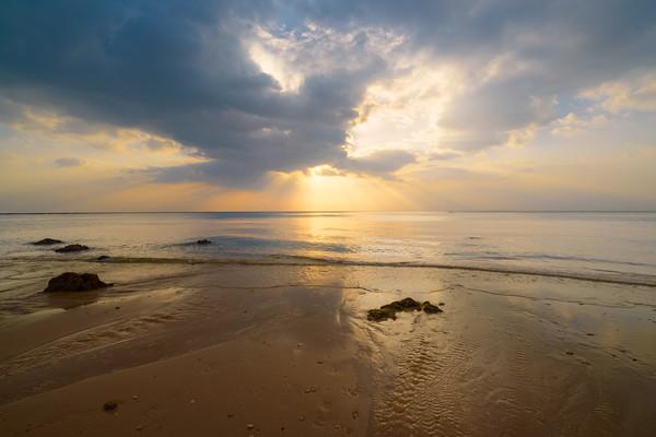 Seascape sunset Canvas print by Jordan Jelev