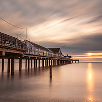 Buy canvas prints of Autumn sunrise over Southwold Pier by David Powley