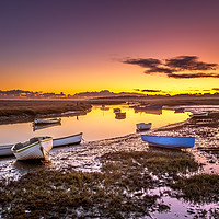 Buy canvas prints of Winter Sunrise at Morston Quay by David Powley