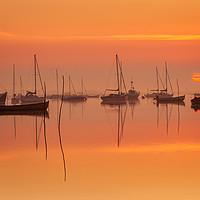 Buy canvas prints of Brancaster Staithe sunrise by David Powley