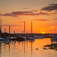 Buy canvas prints of Sunset over Blakeney Harbour by David Powley