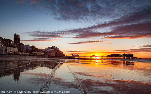 Summer sunset over Cromer Pier Framed Mounted Print by David Powley