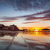 Buy canvas prints of Summer sunset over Cromer Pier by David Powley
