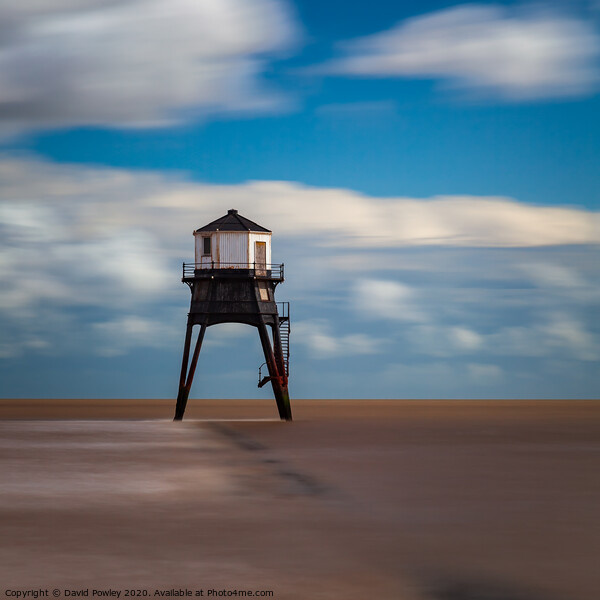 Dovercourt Lighthouse  Print by David Powley