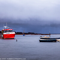 Buy canvas prints of Brancaster Staithe at high tide by David Powley