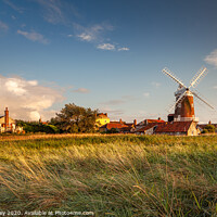 Buy canvas prints of Evening light over Cley Mill by David Powley