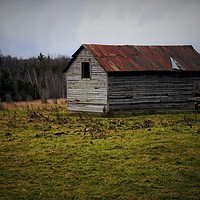 Buy canvas prints of The Old Sheep Shed  by Nathan Bickel