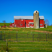 Buy canvas prints of Farmyard: The Old Corral by Nathan Bickel