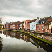 Buy canvas prints of Norwich riverside by Eddie Deane