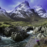 Buy canvas prints of view of Glencoe, highlands, scotland, Uk. by cliff hands