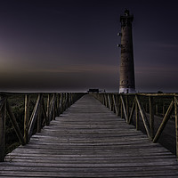 Buy canvas prints of Morro Jable Lighthouse, Fuerteventura. by cliff hands