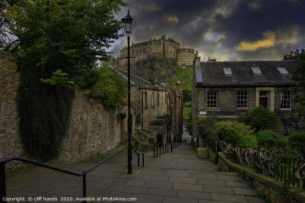 The Vennel, Edinburgh, Scotland. Framed Print by cliff hands