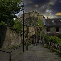 Buy canvas prints of The Vennel, Edinburgh, Scotland. by cliff hands