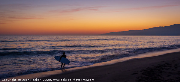 Sunset Surfer Canvas print by Dean Packer