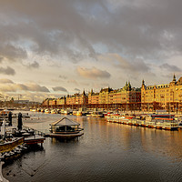 Buy canvas prints of Stockholm in winter by Clive Ingram
