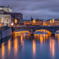 Buy canvas prints of Stockholm by night by Clive Ingram