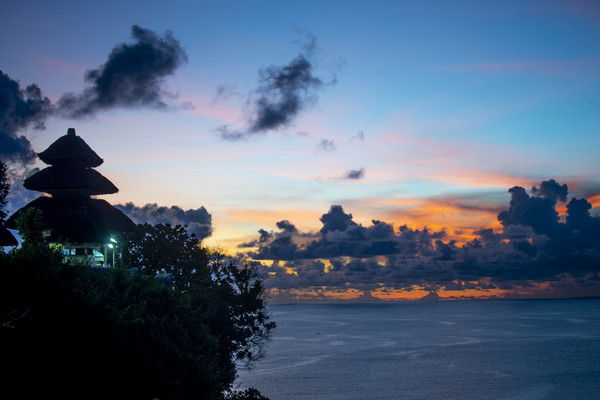Uluwatu Temple at Dusk Canvas Print by Ben Griffin