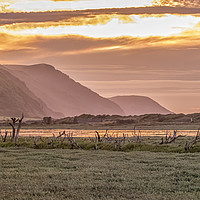 Buy canvas prints of Late Summer Sunset Across Porlock Marsh by Shaun Davey