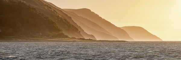 Sunset behind Foreland Point, Exmoor Canvas Print by Shaun Davey