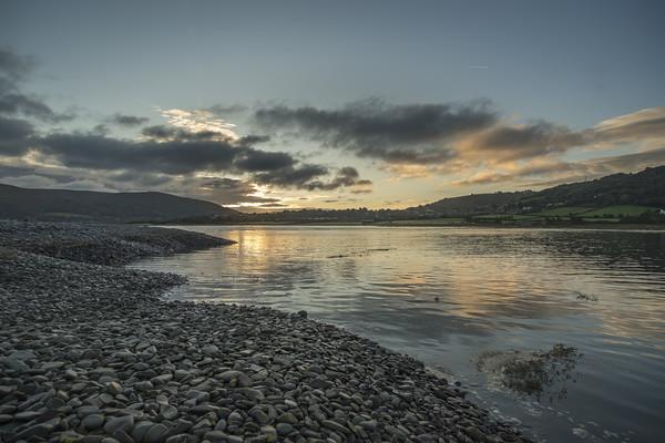 Spring tide at dawn at Porlock Marsh Canvas Print by Shaun Davey