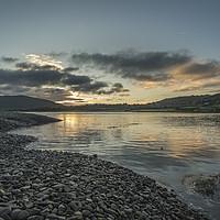 Buy canvas prints of Spring tide at dawn at Porlock Marsh by Shaun Davey