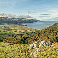 Buy canvas prints of View from Bossington Hill to Foreland Point by Shaun Davey