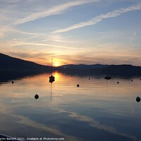 Buy canvas prints of Lake Zug Sunset by Martin Baroch