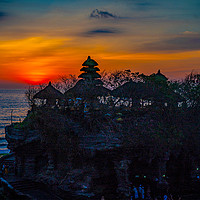 Buy canvas prints of Sunset at Tanah Lot Temple, Bali. by John Hudson
