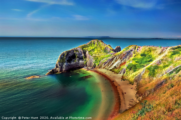 Dorset coastline Canvas Print by Peter Hunt