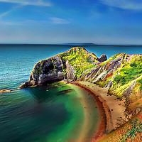 Buy canvas prints of Dorset coastline by Peter Hunt