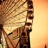 Buy canvas prints of The Big Wheel by Peter Hunt