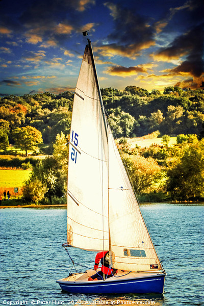 Race day at the lake Canvas Print by Peter Hunt