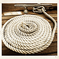 Buy canvas prints of Boat Rope by Peter Hunt