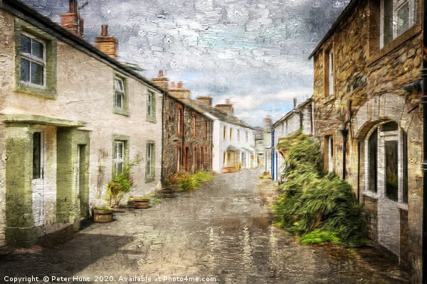 Village scene in Cumbria Canvas Print by Peter Hunt