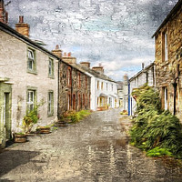 Buy canvas prints of Village scene in Cumbria by Peter Hunt