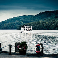 Buy canvas prints of Passenger boat at Lake Windermere by Peter Hunt