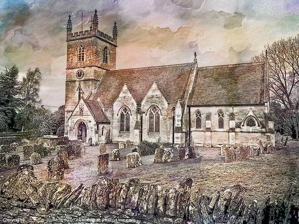 St Martins Church, Bladon Canvas Print by Peter Hunt