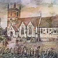 Buy canvas prints of St Martins Church, Bladon by Peter Hunt